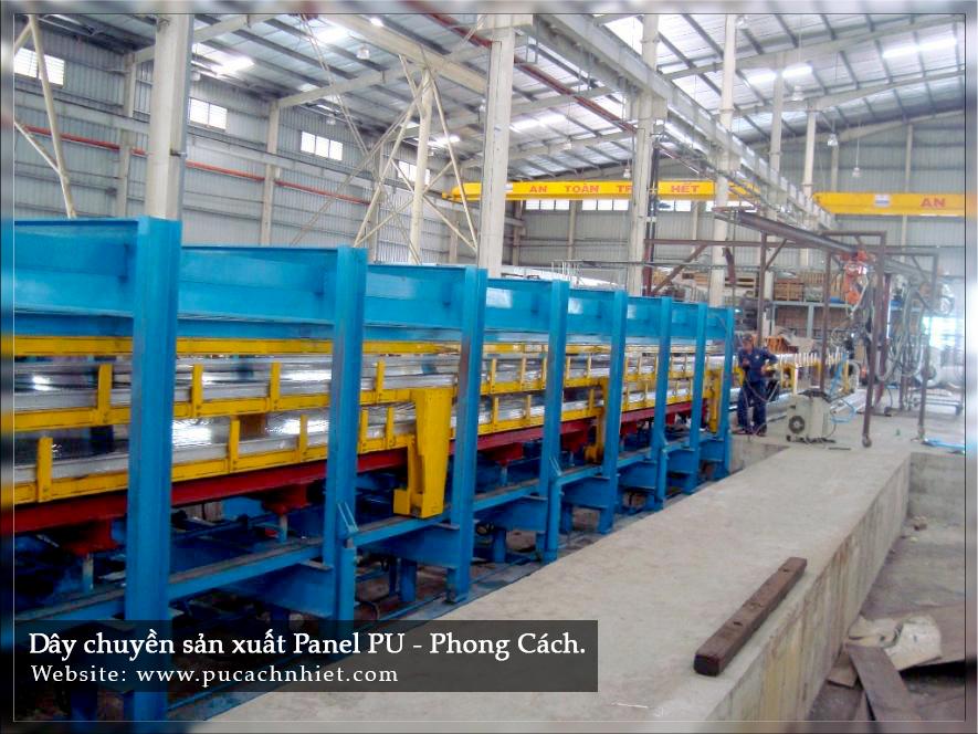 dây chuyền sản xuất tấm cách nhiệt PU 1