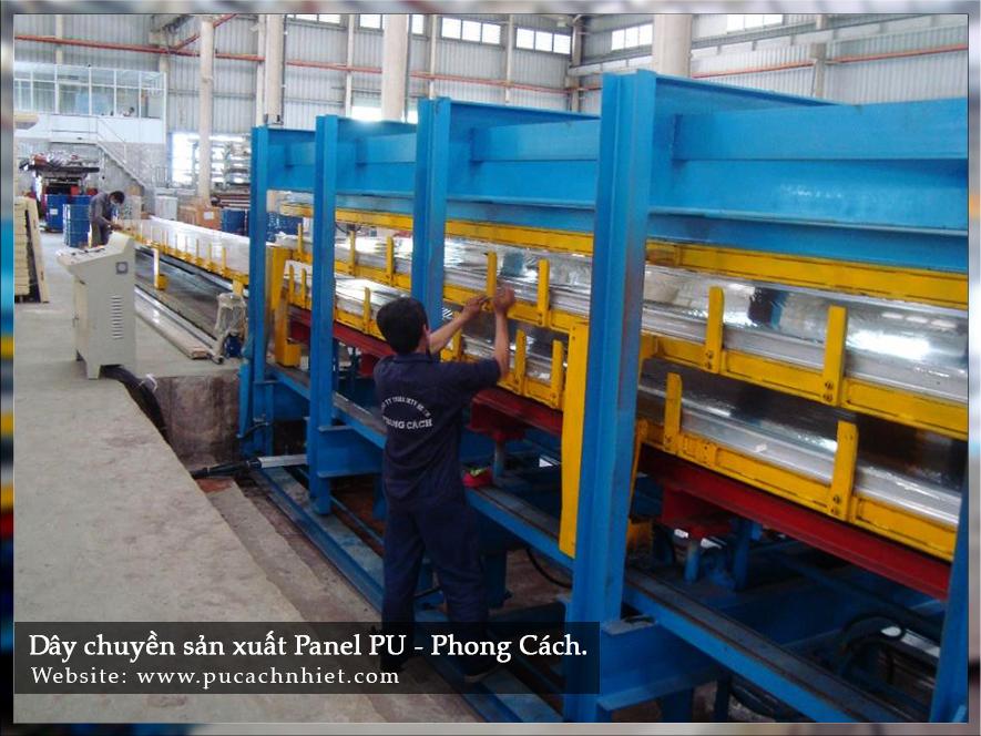 dây chuyền sản xuất tấm cách nhiệt PU 4